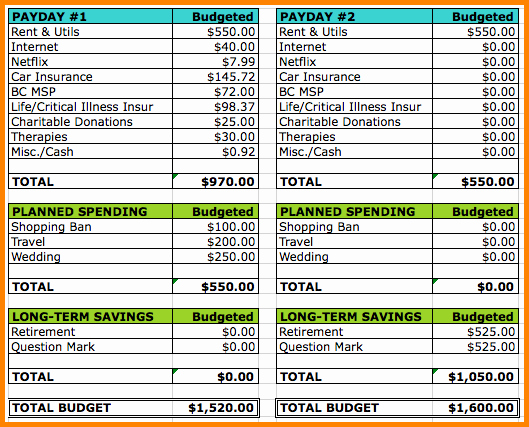 Bi Weekly Bill Pay Template New 6 Bi Weekly Bill Pay Template