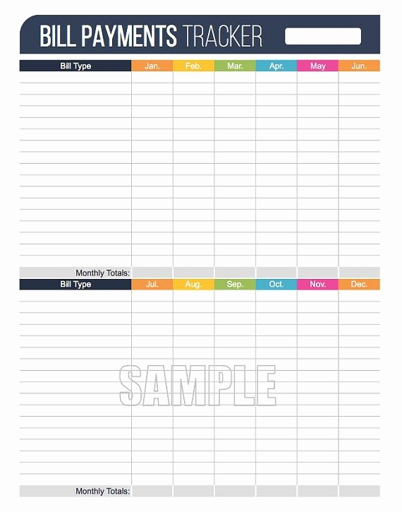 Bi Weekly Bill Pay Template New 68 Best Images About organizing Printables On Pinterest
