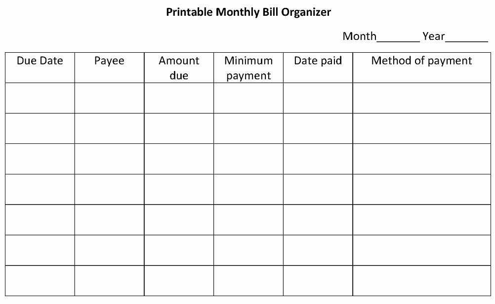 Bi Weekly Bill Pay Template Unique 5 Best Of Bi Monthly Bud Worksheet Printable