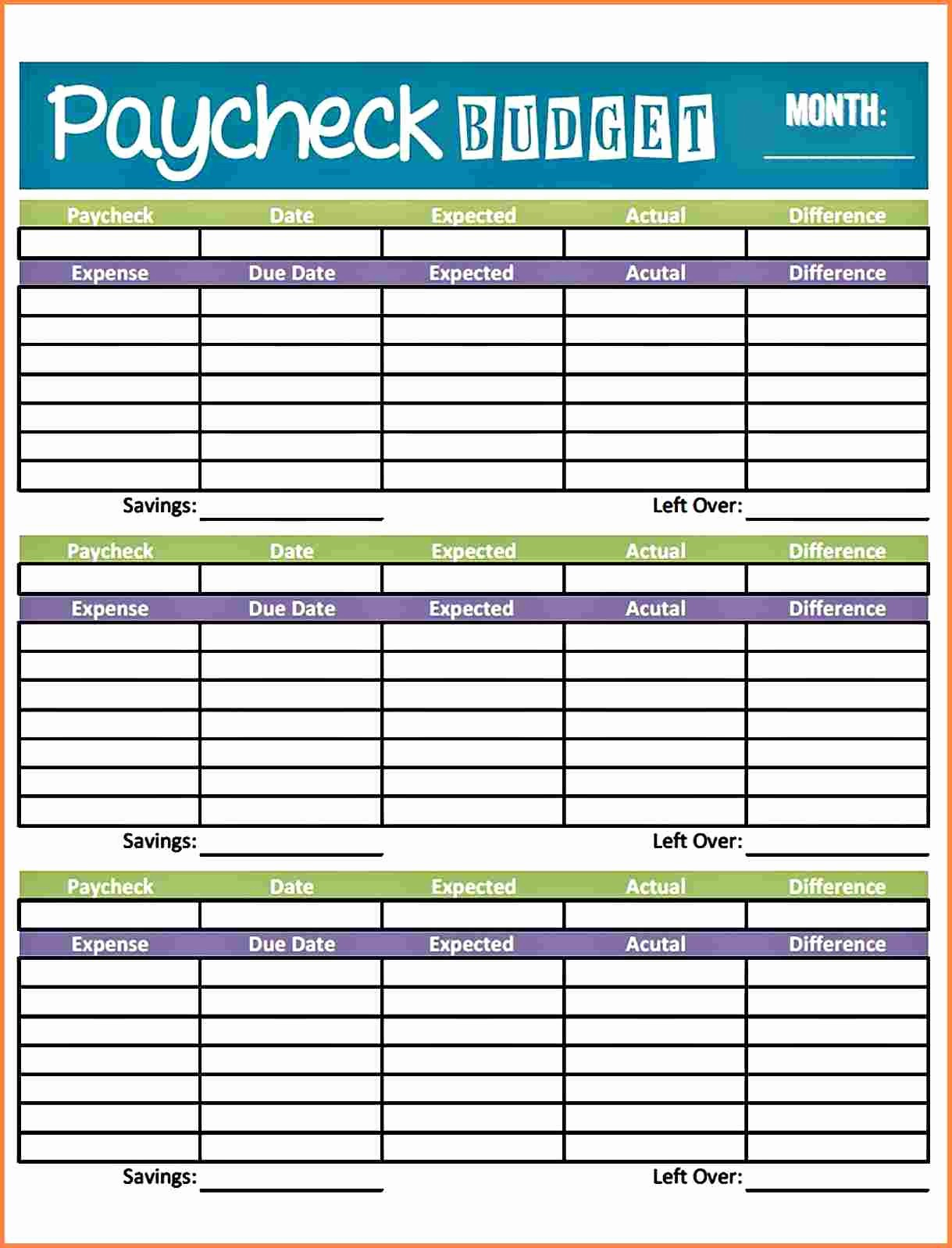 Bi Weekly Bill Pay Template Unique 8 Bi Weekly Bill Pay Template