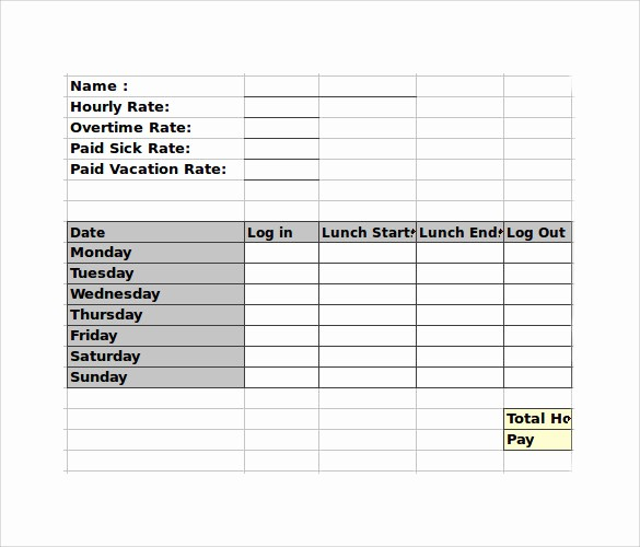 Bi Weekly Timecard with Lunch Best Of How to Calculate Time In Excel with Lunch Break Time