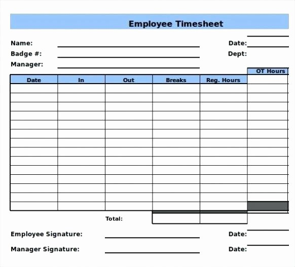 Bi Weekly Timecard with Lunch Elegant Excel Timesheet Calculator More From Sheets Timesheet