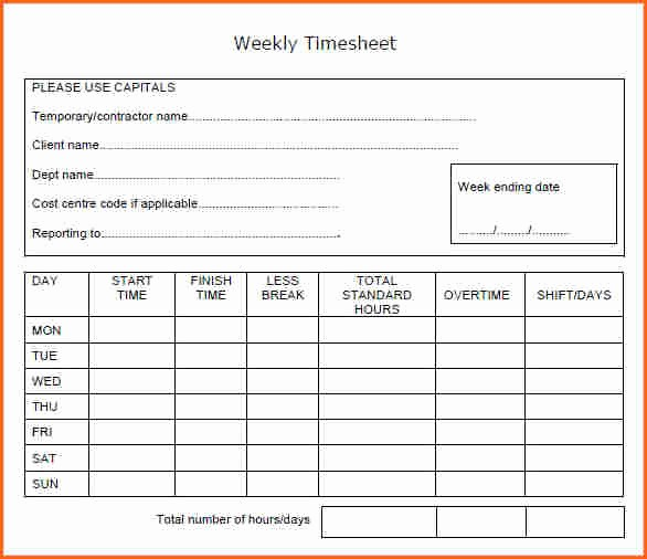 Bi Weekly Timecard with Lunch Fresh Collection Week Code Calculator S Daily Quotes