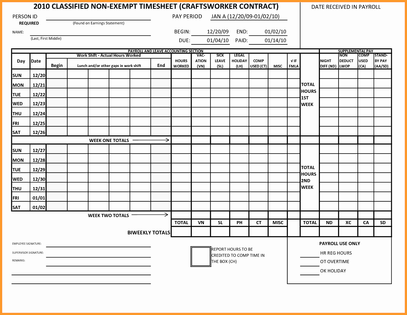 Bi Weekly Timecard with Lunch Lovely 7 8 Time Card Calculator with Lunch Break