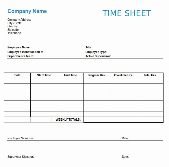 Bi Weekly Timesheet Template Free Lovely Employee Timesheet Template Free Download Templates