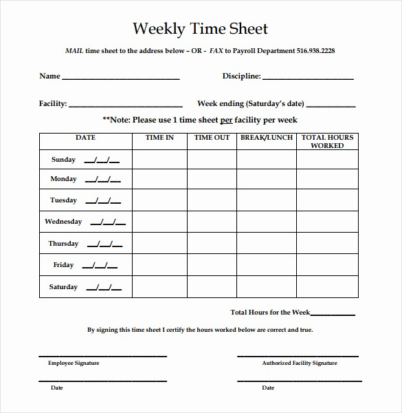 Bi Weekly Timesheet Template Free Unique Printable Employee Timesheet Printable Pages