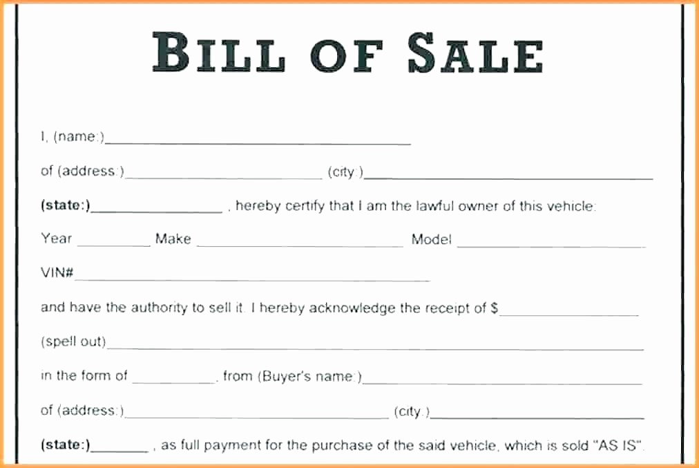 Bill Of Sale Automobile Template Best Of Car Sale Receipt form Sale Car Receipt Receipt Sale
