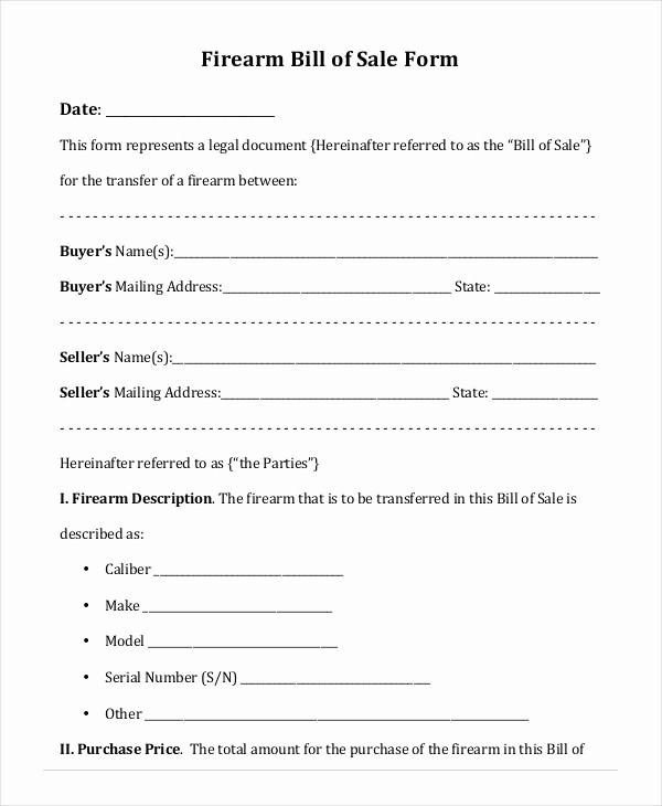 Bill Of Sale Blank Document Inspirational Printable Blank Bill Of Sale Template 9 Free Word Pdf