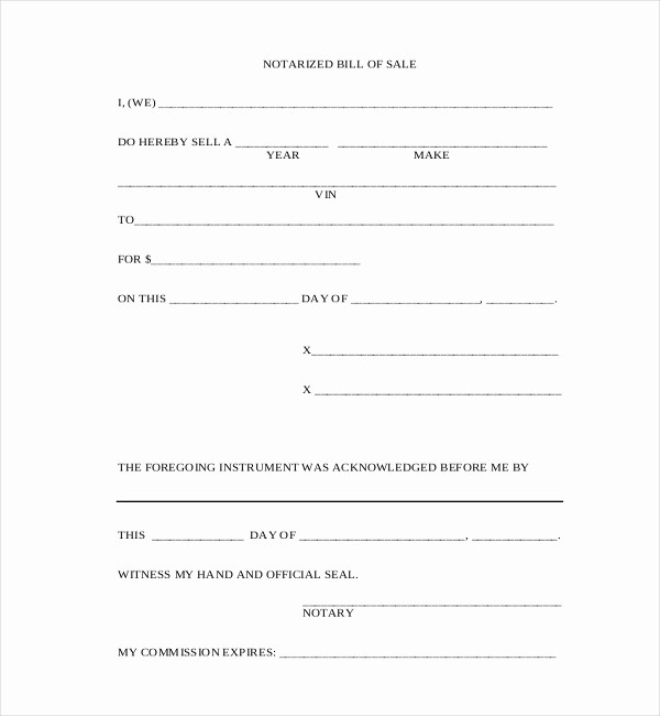 Bill Of Sale Blank Document Unique 10 Sample Blank Bill Of Sale forms