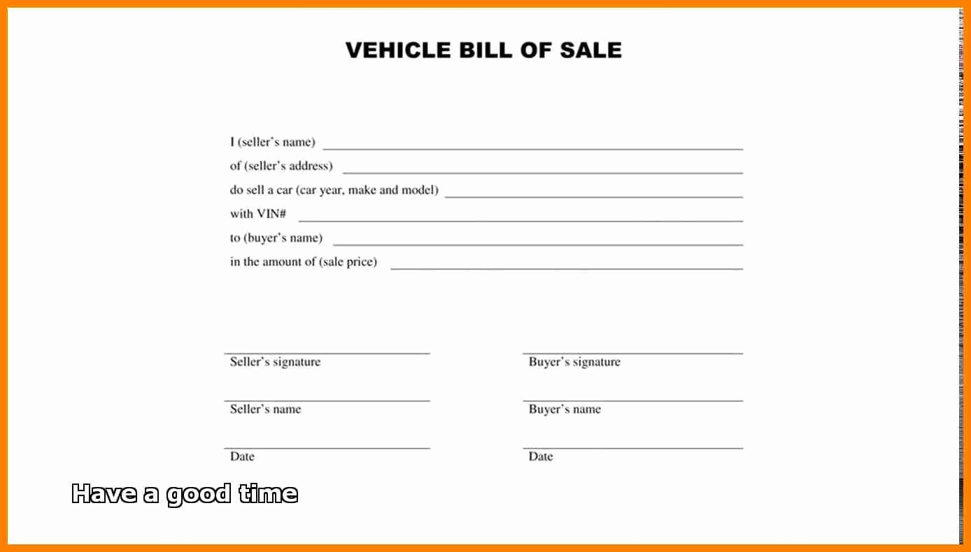 Bill Of Sale Car Free Unique Bill Sale form Free Download for Vehicle Property Free