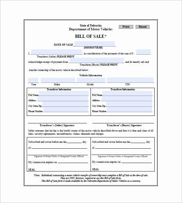 Bill Of Sale Car Georgia New Car Bill Of Sale – 10 Free Sample Example format
