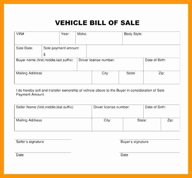 Bill Of Sale Car Georgia Unique 15 Georgia Vehicle Bill Of Sale