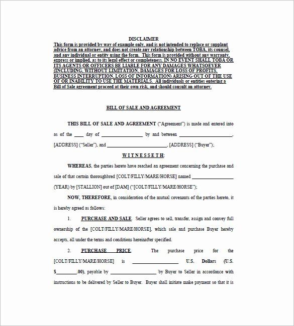Bill Of Sale Contract Template Awesome Business Bill Of Sale 5 Free Sample Example format