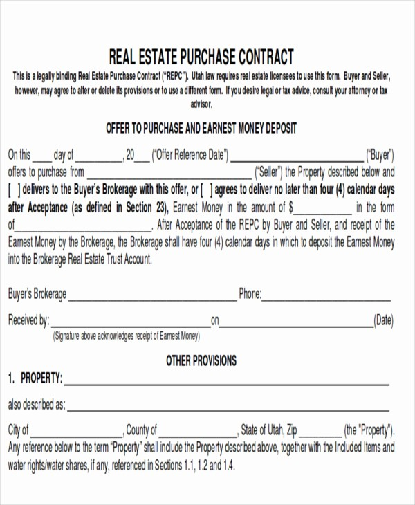 Bill Of Sale Contract Template Beautiful 8 Real Estate Bill Of Sale