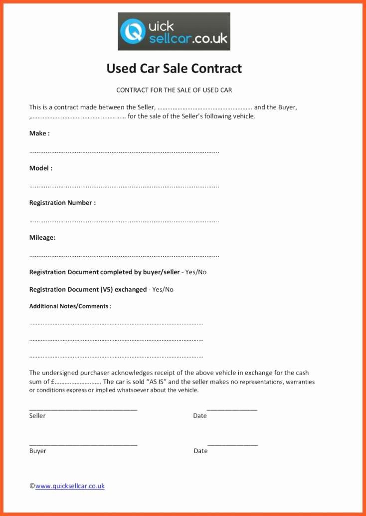 Bill Of Sale Contract Template Elegant Sample Automotive Bill Sale or Private Car Sale