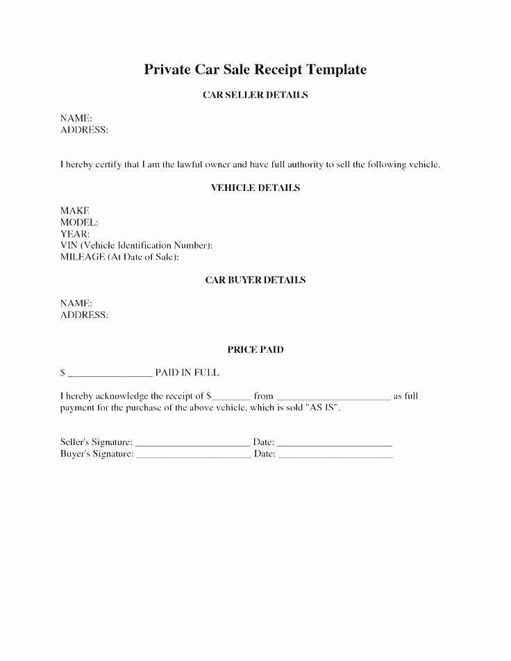 Bill Of Sale Contract Template Lovely Auto Sales Agreement Template Free Used Vehicle Car Uk