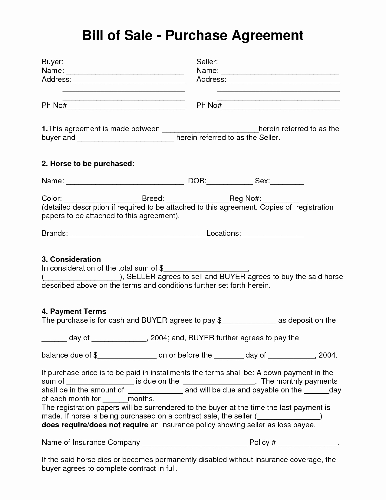 Bill Of Sale Contract Template Unique 10 Best Of Business Bill Sale Agreement Bill