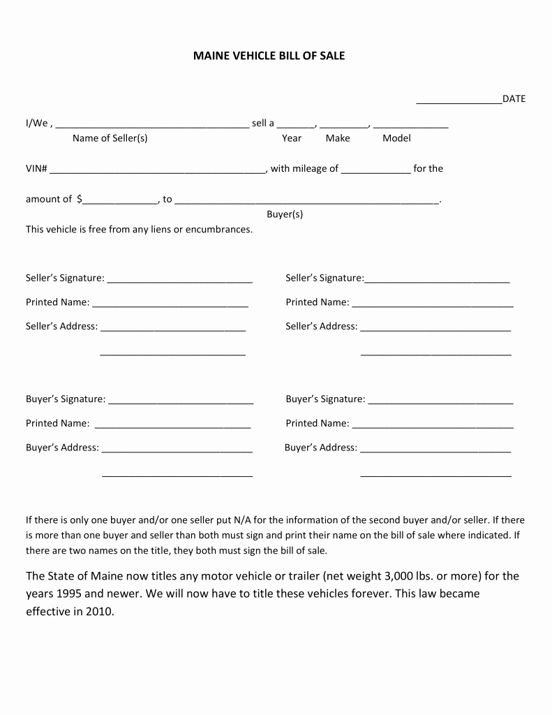 Bill Of Sale Document Template Best Of Editable Bill Sale Template Free Boat Trailer form