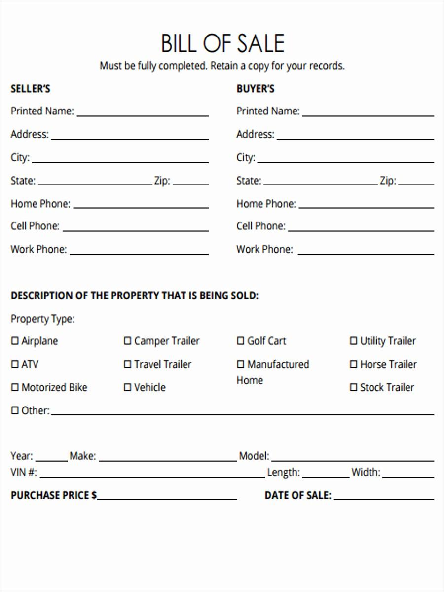Bill Of Sale Example form Elegant 5 Horse Bill Of Sale forms Free Sample Example format