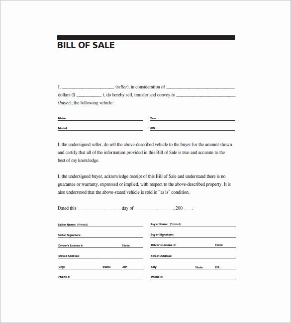 Bill Of Sale Example Letter Awesome 6 Automobile Bill Of Sale Free Sample Example format