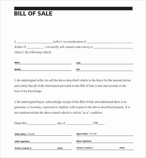 Bill Of Sale Example Letter Beautiful Sale Vehicle Receipt Vehicle Bill Sale Car Sale
