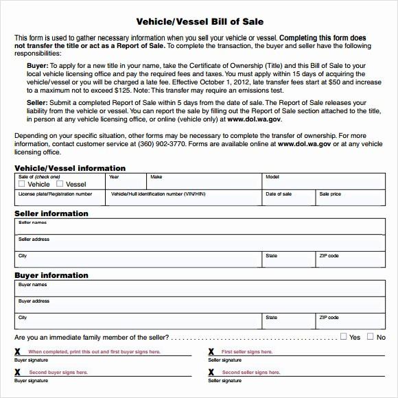 Bill Of Sale Fillable Pdf Fresh 14 Sample Vehicle Bill Of Sales – Pdf Word