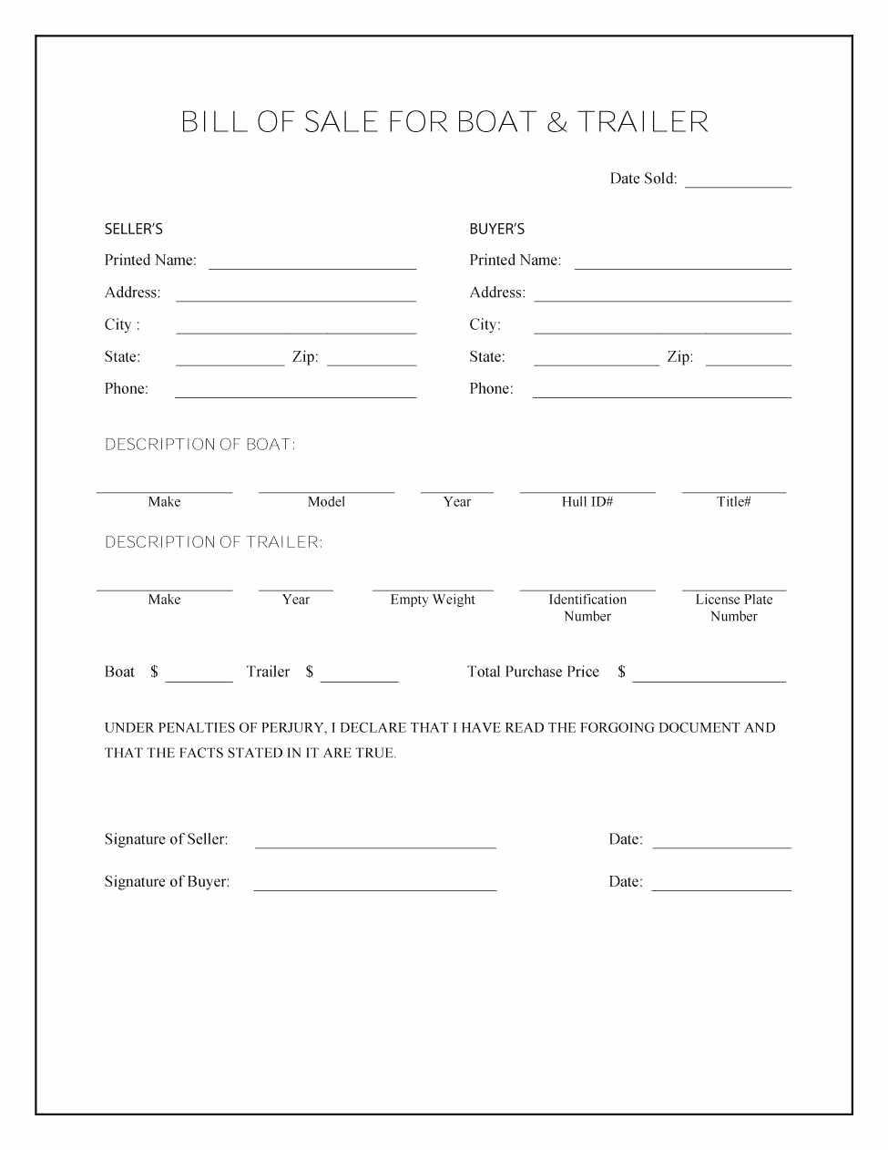 Bill Of Sale Fillable Pdf New Vehicle Bill Sale Template Fillable Pdf Lovely Free