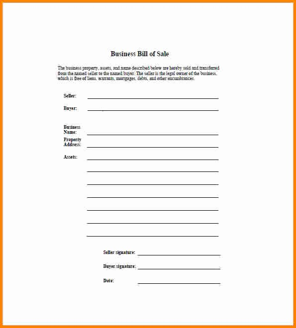 Bill Of Sale form Download Elegant 7 Business Bill Of Sale form Free