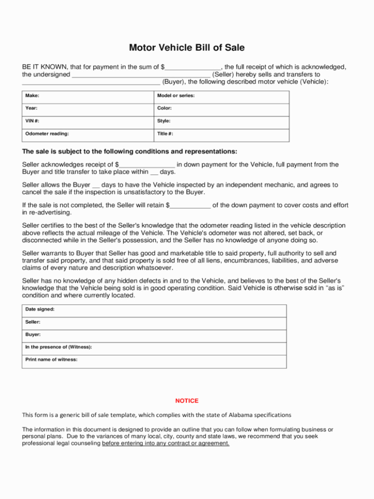 Bill Of Sale form Download Elegant Bill Of Sale form – 14 Free Templates In Pdf Word Excel