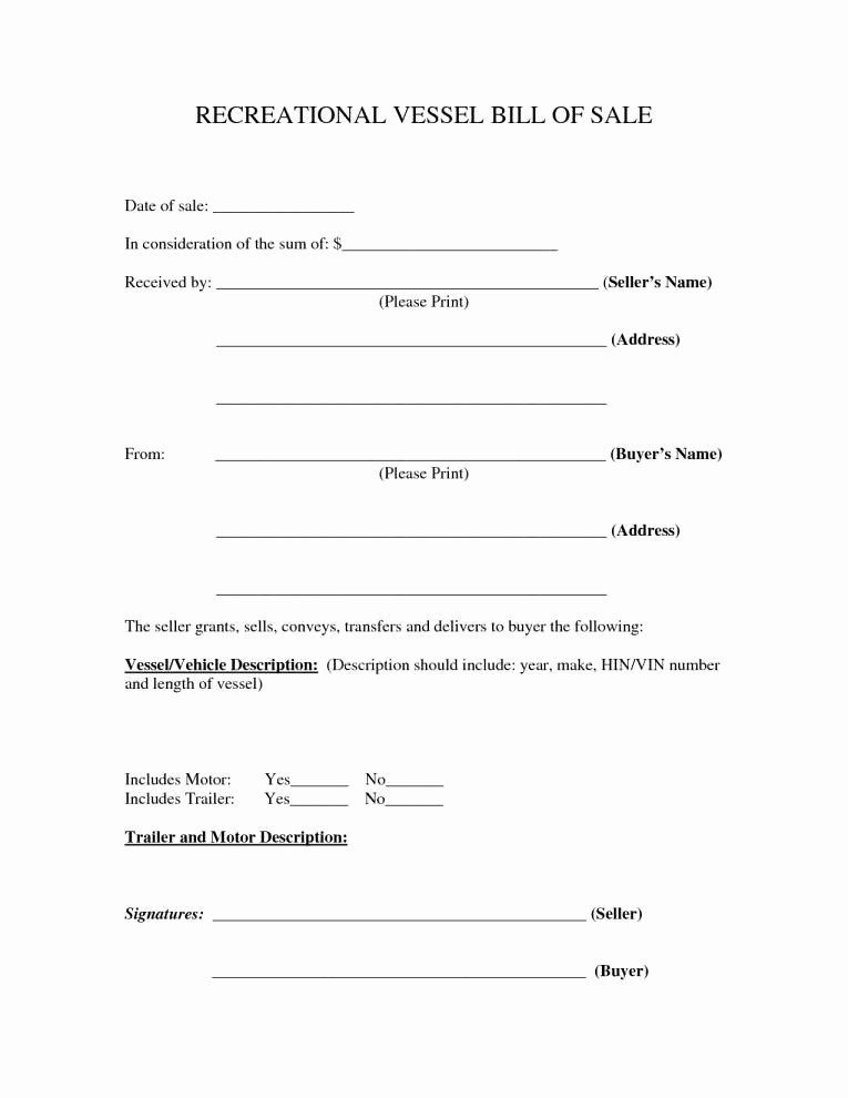 Bill Of Sale form Example Awesome 15 Free Printable Bill Of Sale for Car