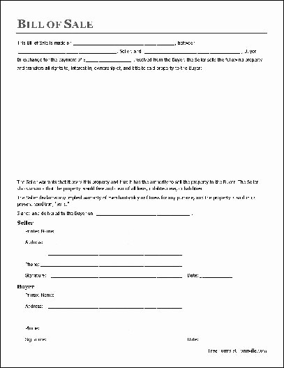 Bill Of Sale form Example Awesome Bill Sale Template