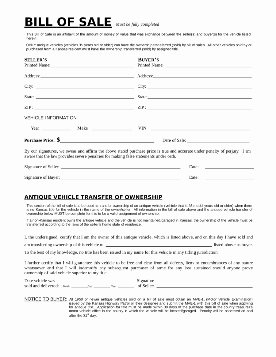 Bill Of Sale form Example Beautiful 2018 Dmv Bill Of Sale form Fillable Printable Pdf