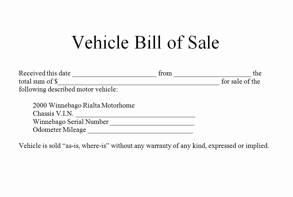 Bill Of Sale form Example Fresh How to Write Bill Of Sale for Car