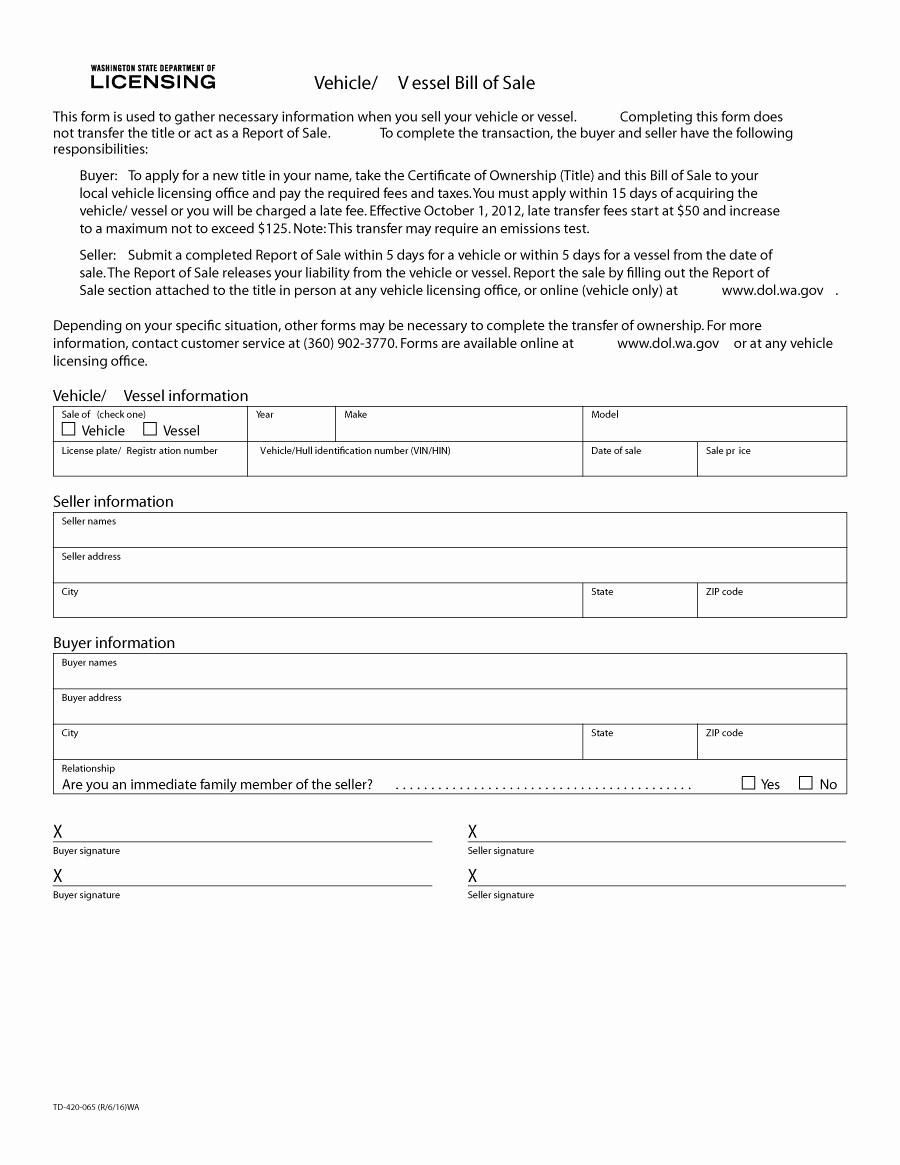 Bill Of Sale form Example Unique 45 Fee Printable Bill Of Sale Templates Car Boat Gun