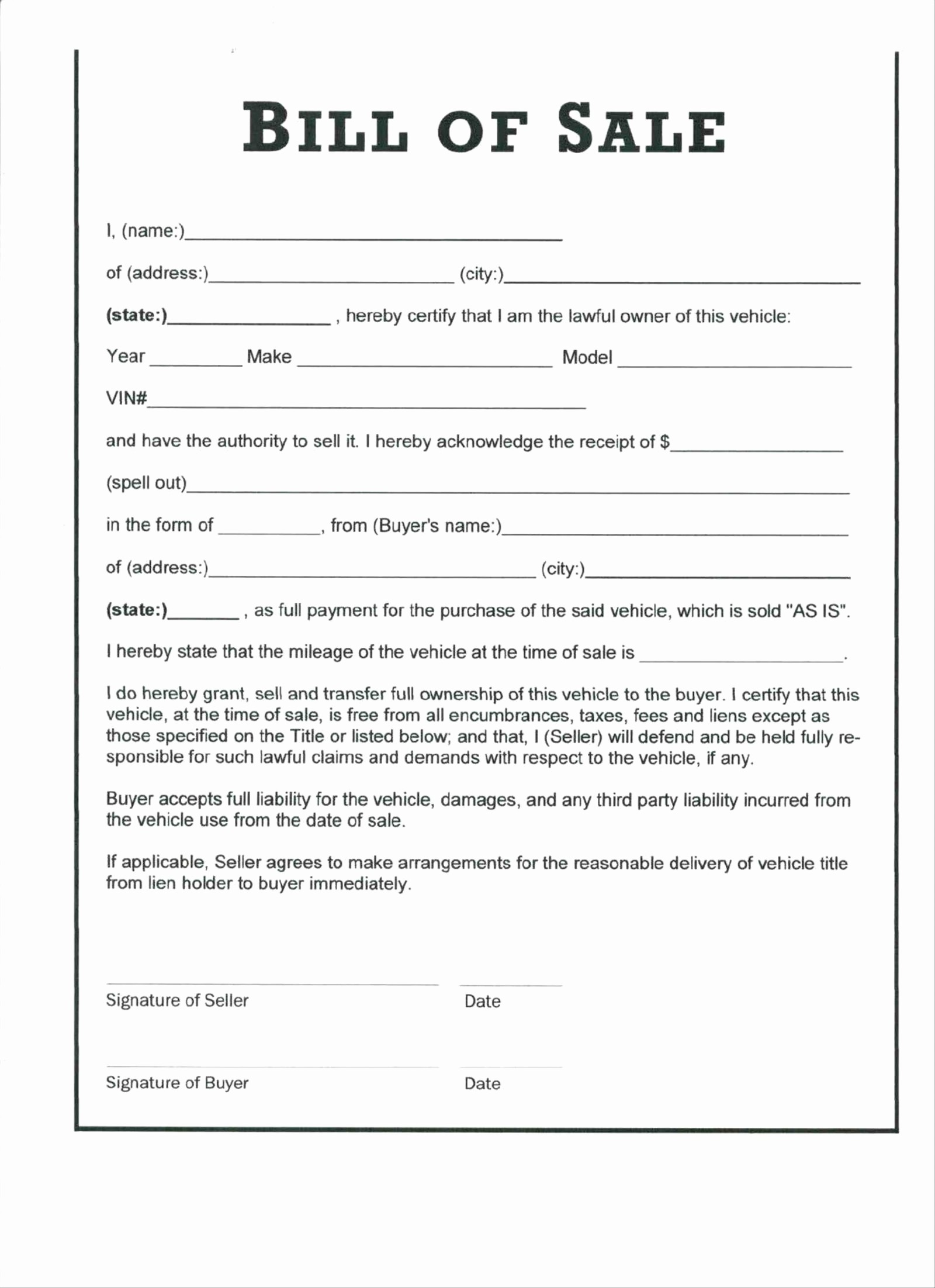 Bill Of Sale form Ma Inspirational Bill Sale Template Ma