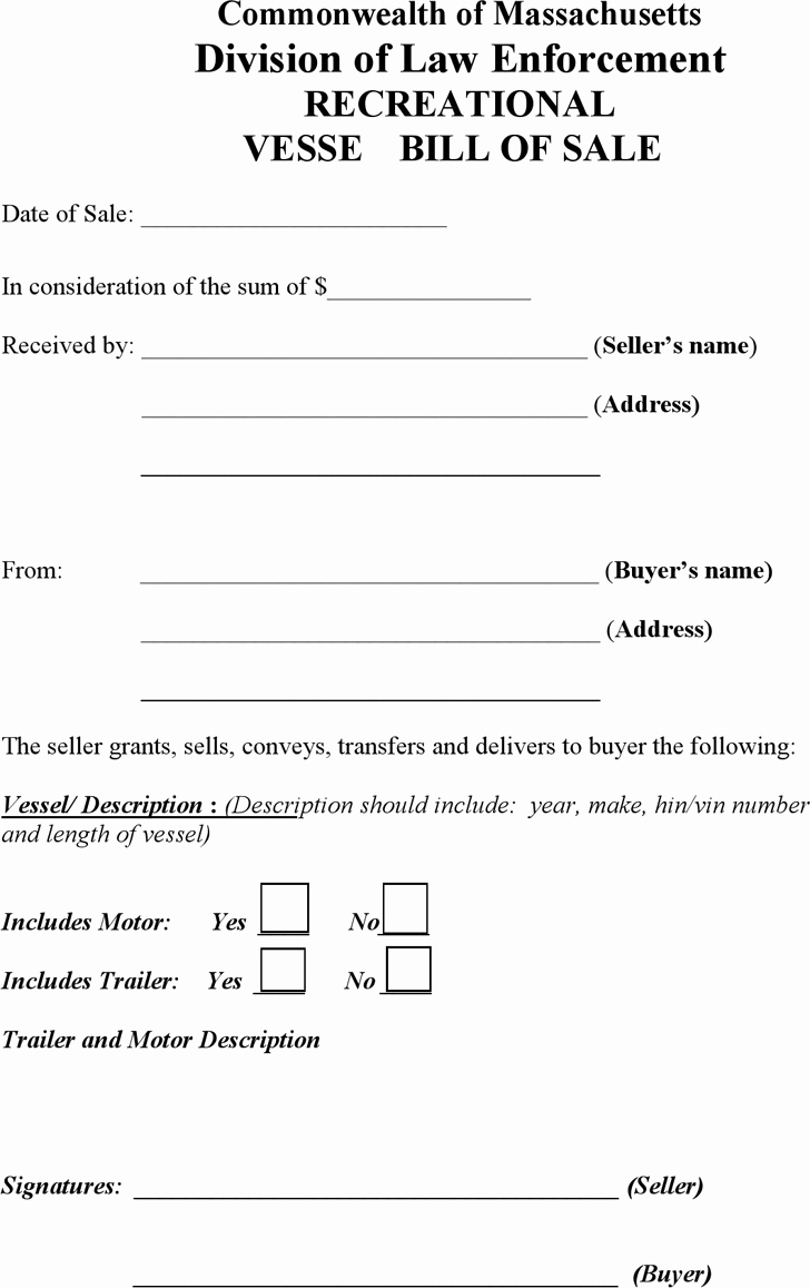 Bill Of Sale form Ma New Bill Of Sale Template Free Template Download Customize