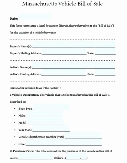 Bill Of Sale form Ma New Examples Bill Sales for Cars Sale form Free Download