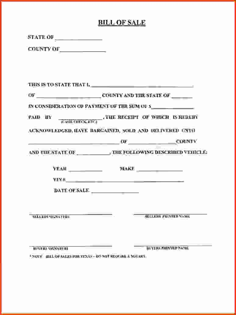 Bill Of Sale form Motorcycle Awesome Bill Sale Template Ga form New Sampleo Motor Vehicle