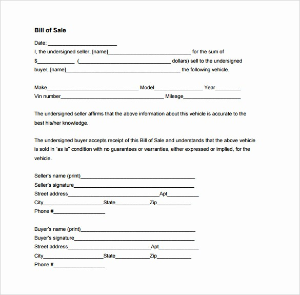Bill Of Sale form Motorcycle Lovely Bill Of Sale Template 44 Free Word Excel Pdf