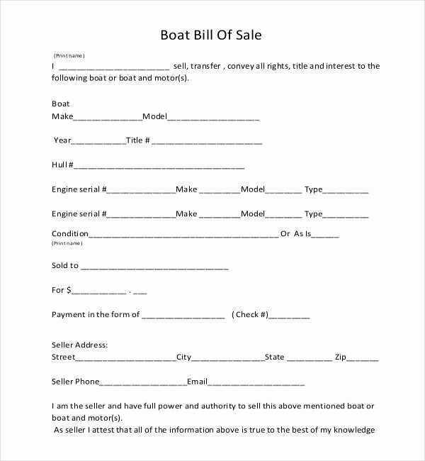 Bill Of Sale Generic form Inspirational Generic Bill Sales Oursearchworld