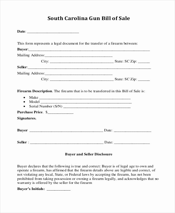 Bill Of Sale Generic form Luxury Sample Generic Bill Of Sale form 10 Free Documents In Pdf