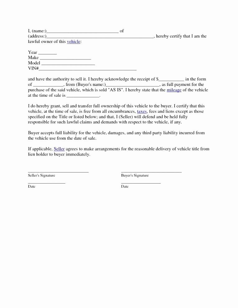 Bill Of Sale Illinois Car New Free Massachusetts Auto Bill Sale Template