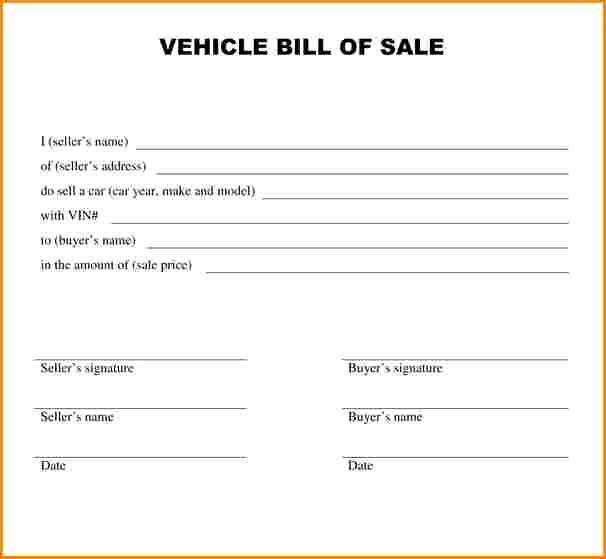 Bill Of Sale Illinois Car Unique 8 Receipt for Car Sale