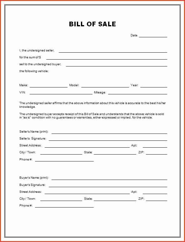 Bill Of Sale Motorcycle Template Awesome Motorcycle Bill Sale Pdf