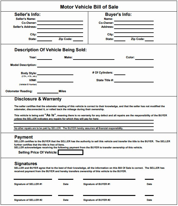 Bill Of Sale Motorcycle Template Unique Deed Sle for Motor Vehicle Impremedia