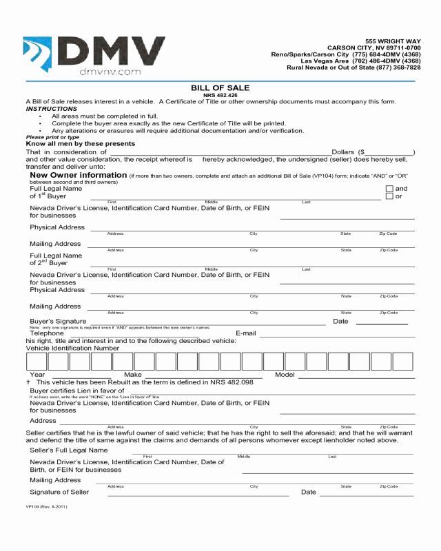 Bill Of Sale Nc Car Lovely Bill Of Sale form Template Vehicle [printable]