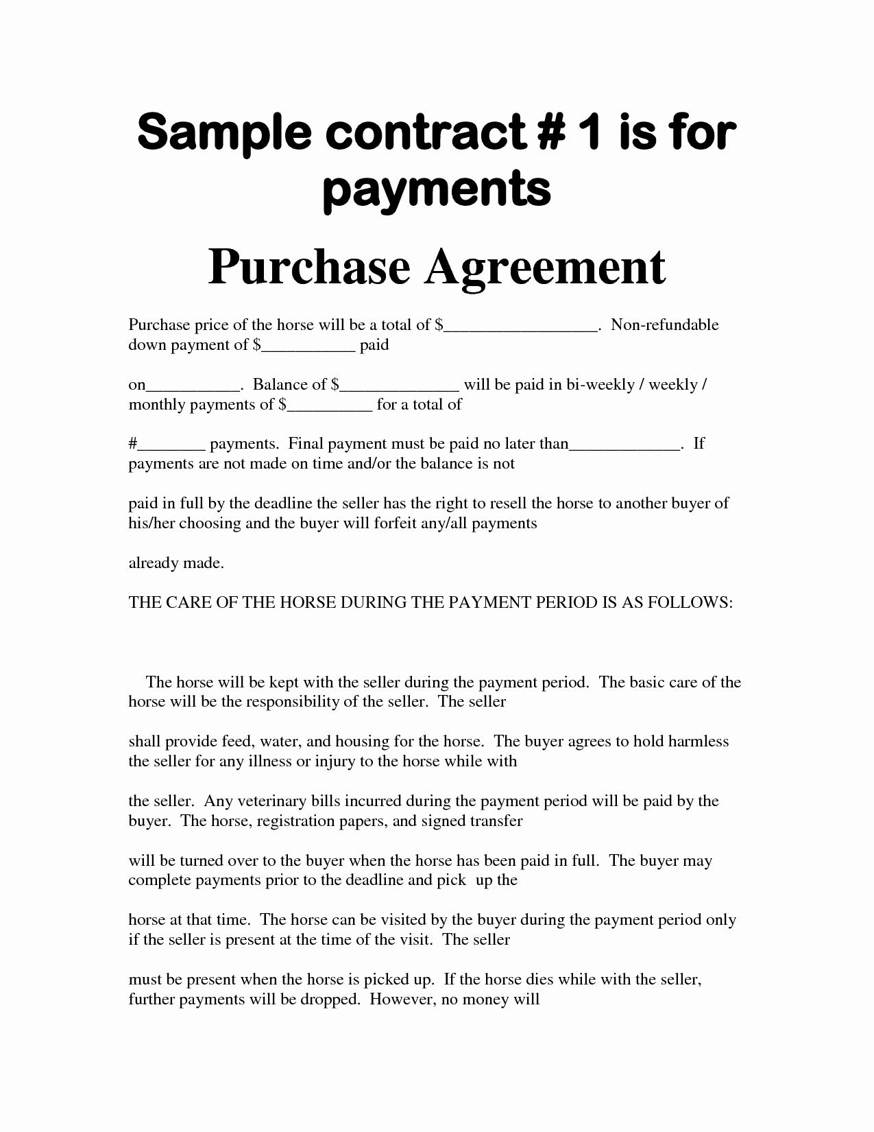Bill Of Sale Payment Agreement Best Of Agreement Template Category Page 69 Efoza