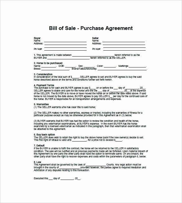 Bill Of Sale Payment Agreement Unique Bill Sale Contract Template Spreadsheet Templates Bill