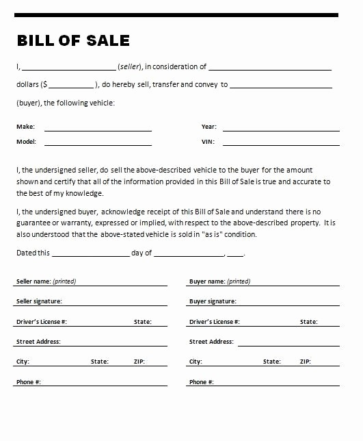 Bill Of Sale Printable Document New Printable Sample Printable Bill Of Sale for Travel Trailer