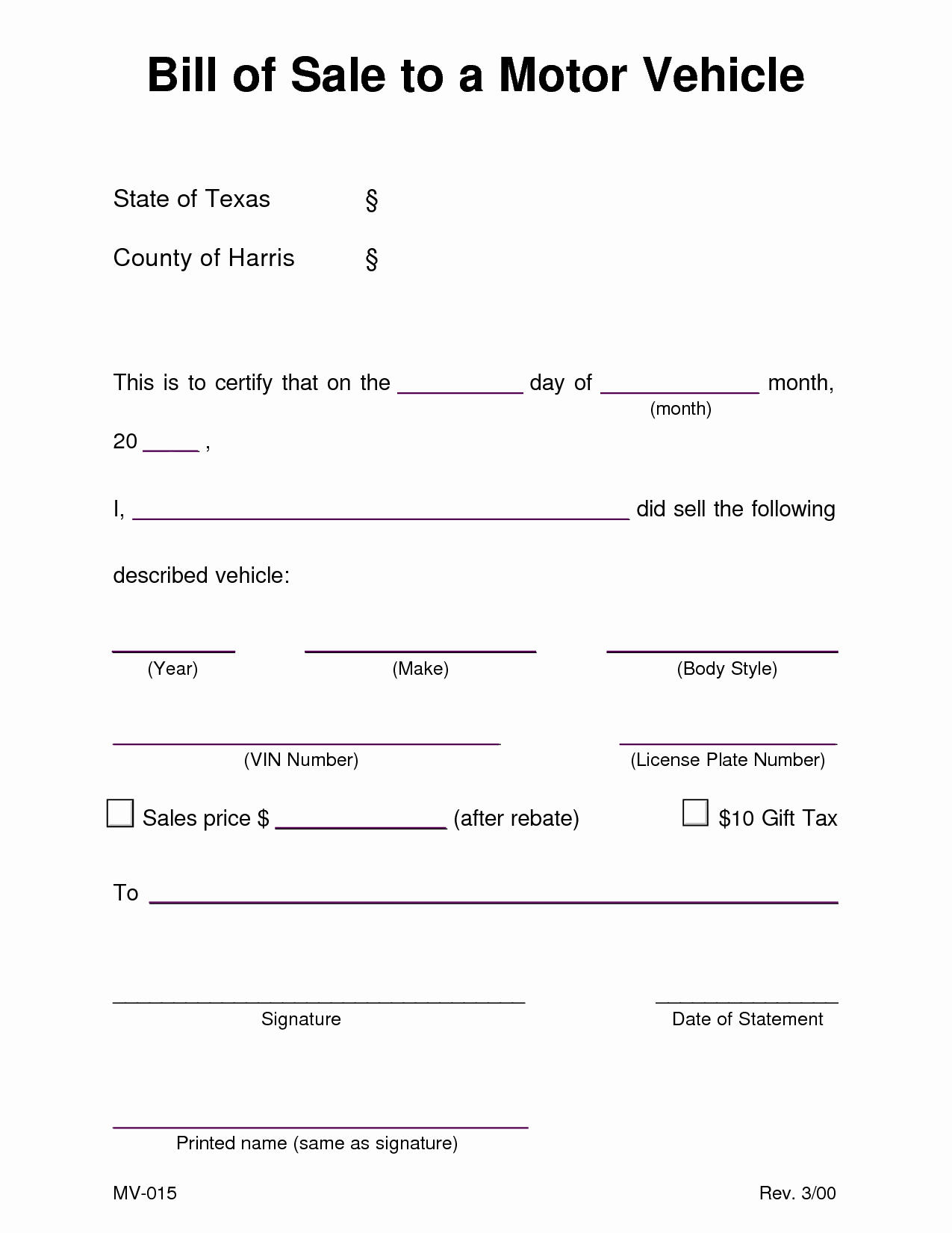 Bill Of Sale Printable Version Best Of Printable Sample Equipment Bill Sale Template form